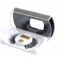 Wholesale 1 Pair Soft Real Mink Natural Thick False Fake Eyelashes Makeup Eye Lashes Extension Xmas Tools