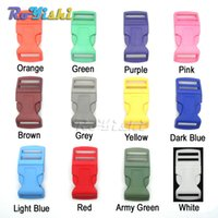 backpack accessory straps - 50pcs quot Mixed Color Plastic Curved Side Release Buckles Backpack Straps Webbing mm Hardware Accessories