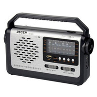 Home Radio best home speaker - Best price original Degen DE320 Radio FM MW SW1 Handheld Full Band Radio Receiver USB Card mp3 Player Multiband Radio Y4299A
