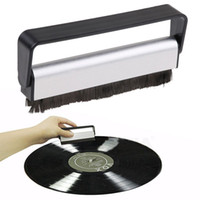 antistatic cleaner - Antistatic Carbon Fiber Vinyl Record Dust Cleaner Brush Turntable Fibre Cleaning CD Brush
