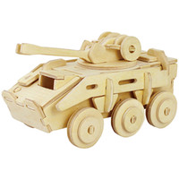 armoured games - Military Armoured Model Vehicle Puzzles D Wooden Puzzle Environmental Assemble Toy Educational Game wooden toys for children