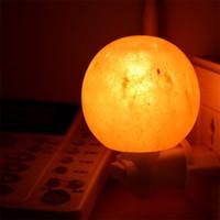 No air candles - Natural Himalayan Salt Night Light Mini Decorative Night Lighting with Air Purifier W E12 Ounce UL Wall Plug Round Form