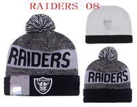 Wholesale Raiders Beanies Winter High Quality Football Beanie For Men Women Skull Caps Skullies Pom Knit Hats Cheap Cap Hat