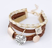 South American big fish shops - Europe and the United States of big shop sign multilayer cortex multielement bracelet Men and women joker weave first jewelry bracelet