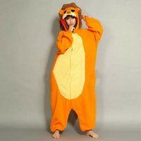 Cheap 2016 New Style Unisex Anime Lion Cosplay Onesie Soft Pajamas Party Costume Adult Cartoon Sleepwear Fancy Halloween Dress O063