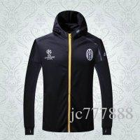 Rugby athletic coats - Juve style thai quality winter coats long sleeve athletic football jackets men Soccer hoodies soccer coats