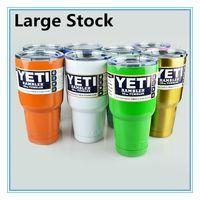 Wholesale HOT yeti oz oz oz oz Cups Cooler Rambler YETI Tumbler Travel Vehicle Beer Mug Double Wall Bilayer Vacuum Insulated Colors