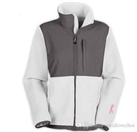 Wholesale EMS the Classic Pink Ribbon Women s Denali Fleece Jackets Sport Outdoor Winter warm face color come from north american