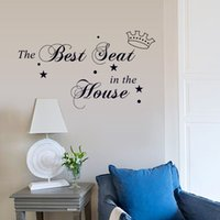 best small bathrooms - 18 cm Wall Stickers DIY Art Decal Removeable Wallpaper Mural Sticker for Kids Room Bedroom Living Room DZ030 the Best Seat in the House