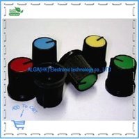 Wholesale Single double potentiometer special quality plastic knob at the bottom diameter of about CM height of about