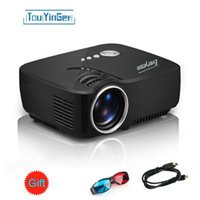 Home atv video games - Mini Portable GP70 Projector Lumens Full HD Home Theater LED Video Game Beamer P LCD Proyector ATV For Home Cinema USE