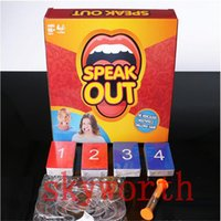 Wholesale fast shipping by DHL Speak Out Game KTV party game cards for party Christmas gift newest best selling toy factory price