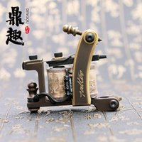best designed tattoos - New Design Pure Copper Shader Tattoo Machine Tattoo Gun With Perfect Carving TM452 Best Quality