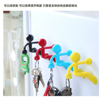 Wholesale 3pcs Umbrella Shaped Creative Key Hanger Rack Decorative Holder Wall Hook For Kitchen Organizer Bathroom Accessories