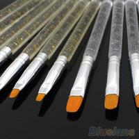 Wholesale 7Pcs Professional UV Gel Brush Pen Nail Art Painting Drawing Brush Sets BX2