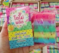 antibacterial facial soap - NEWEST HOT OMO white plus soap rainbow soap whitening fruit essential oil Moisturizing soap Gluta Thailand for facial and body
