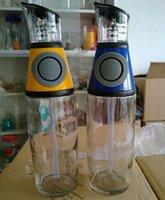 Wholesale 1PC Olive Oil Dispenser Kitchen Glass Bottle No Drip Pouring Spout Pumps Measures Mixes Oils Vinegar Liquid Ingredient JR