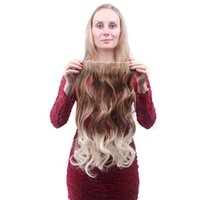 Wholesale Long Women Clips Hair Pieces Multicolor Ombre Deep Body Wave Synthetic Hair Weft Hair Extensions g inch
