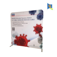 Wholesale 8ft Trade Show Straight Shape Tension Fabric Display Banner Stand Wedding Backdrop Exhibiton Backwall for Advertising with banner