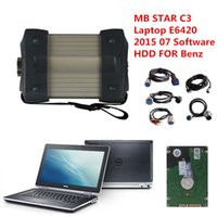 Wholesale Star C3 Tester - 2016new 2015.07Top Rated Mercedes Tester MB Star C3 full set with 4GB I5 E6420 Laptop installed well DAS +Xentry + WIS + EPC+Sd