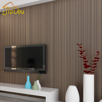 papel pintado texturizado tejido al por mayor-Venta al por mayor-Simple clásico 3D Solid Stripe Textured flocado no tejidas papel tapiz de dormitorio Salón mural de papel de pared Home Decor 10M