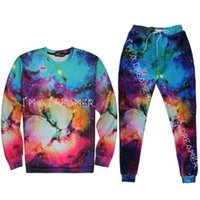 Wholesale Emoji Joggers Tracksuit for Men Boy D Galaxy Print Basketball Sportwear Hoddie Pants Two Pieces Set Outfit Jogger Tracksuits H26