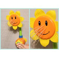 Wholesale Sunflower Shower for Bathroom Kids Children Baby Bath Toy Faucet Bath Water Play Learning Toy Gift Retail Package
