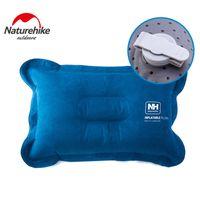 best rest pillow - Best Portable Folding Air Inflatable Travel Neck Square Shape Pillow Rest Air Blow Up Cushion Outdoor Pillows