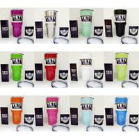 Wholesale In Stock Colors Rambler Tumbler oz YETI Cups Cars Beer Mug Large Capacity Mug Tumblerful ml Yeti cups via DHL