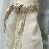 Wholesale Good Quality Curtain Tiebacks Handmade Braided Holdbacks Window Drapery Hooks Curtain Tie Backs CM JI0236