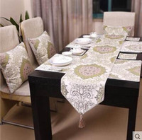 Wholesale Fashion simple white elegant European style art gift Coffee Table Runner decoration