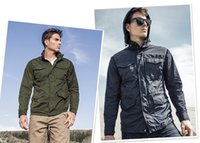 Wholesale Menswear new arrival water proof multi pocket workwear jacket with hided hood jacket