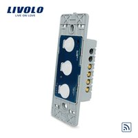 Wholesale LS Livolo Remote Switch Without Crystal Glass Panel Wall Light Remote Touch Switch LED Indicator gang Way VL C503R