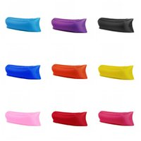 Wholesale Fast Inflatable Sofa Air Sleeping Bag Hangout Lounger Air Camping Portable Beach Sleep Bags Bed Hot Sale Factory Direct kx