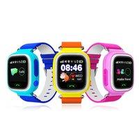 GPS Q90 Smart Reloj Táctil Relojes WIFI Ubicación Niños Bebé SOS Buscador de llamadas Track gps Kid Safe Anti-Lost dispositivo de monitorización PK Q50