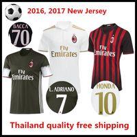 ac acrylic - Thailand Quality Season AC Milan Soccer Jerseys Football Jerseys Menez HONDA Romagnoli Bonaventura Bacca Bertolacci