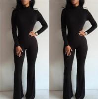 Wholesale Long sleeved tight Jumpsuit skirt nightclub