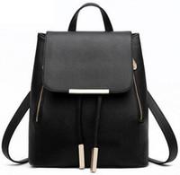 Wholesale 2016 New Women Backpack High Quality PU Leather Mochila Escolar School Bags For Teenagers Girls Top handle Backpacks