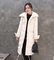 berber fleece coat - Winter New Style Hooded Collar Parka Women Soft Jackets Duck Down Coats Female Clothes Fashion Berber Fleece Long Brand Down Jackets