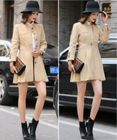 british sexy girls - Spring Autumn New Women Fashion Stand up Collar Trench Coats Ladies Sexy Slim Long Sleeve Dust Coats Girls British Style Wind Coats