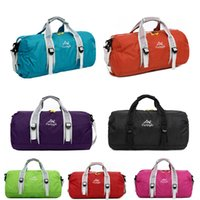 Wholesale Outdoor Sports Bag Foldable Shoulder Sport Bags Single Strap Waterproof Round Shape Fitness Leisure Convenient Handbag