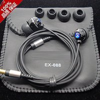 b logo headset - 1 Original EX088 With Leather Bag Logo mm In Ear Earbuds Earphones Headphones Stereo Hi Fi Mega Bass Subwoofer Headsets for R B ROCK