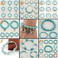 Beaded, Strands beautiful turquoise - Newest Jewelry Bracelet Ethnic Style Jewelry Handmade Natural Turquoise Bracelet Very Beautiful Gift High Quality