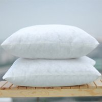 Wholesale Pure White Stripe PP Cotton Soft touching Pillow Inner Size For Warm Winter Decoration Rooms