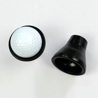 Wholesale Hot Sale Rubber Golf Ball Retriever Tools Pick Up Ball Putter Grip Retriever Device Suction Cup Pickup Screw Golf Training Aids MD0121