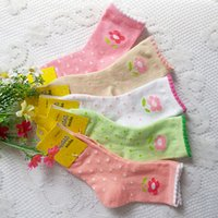 Wholesale Autumn and winter small flower cotton baby socks years old warm female child high quality socks girls cotton socks