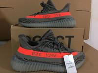 al por mayor calzado deportivo de color naranja-(Con la caja original, recibo) Kanye Oeste Boost 350 V2 deporte cobre Núcleo Rojo Negro Zapatos Hombre Zapatillas Naranja Naranja zapatos infantiles