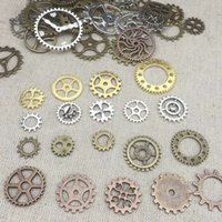 Charms altered art - Mixed Vintage Steampunk Gears Altered Art Jewelry Pendant Making