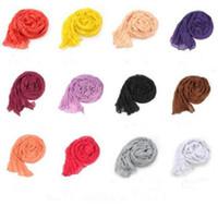 Wholesale Cheap Colors Solid Scarves Cotton Voile Classy Women Shawls Fold Plain Ladies Wraps Soft Fringes Autumn Scarf For Girls Size CM