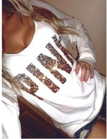 Pullover acrylic letters - sweatshirts woman pink spring autumn sexy pink letter printed tracksuit tops shirts